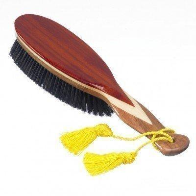 KENT CR8 Deluxe Clothes Brush. 100% Natural Black Boar Bristle, Made with Three Veneered Woods