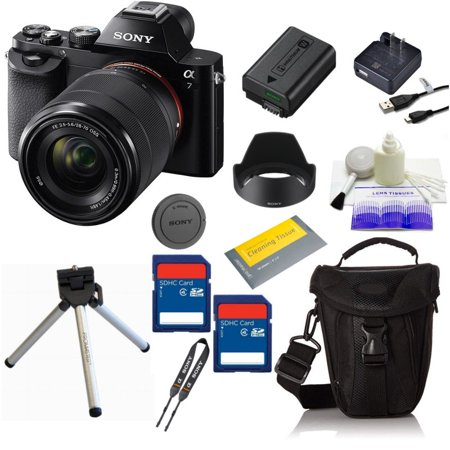 Sony Alpha a7 Mirrorless Digital Camera (with FE 28-70mm f/3.5-5.6 OSS Lens + Bag + Cleaning Kit + Cleaning Tissue + 2 Memory)