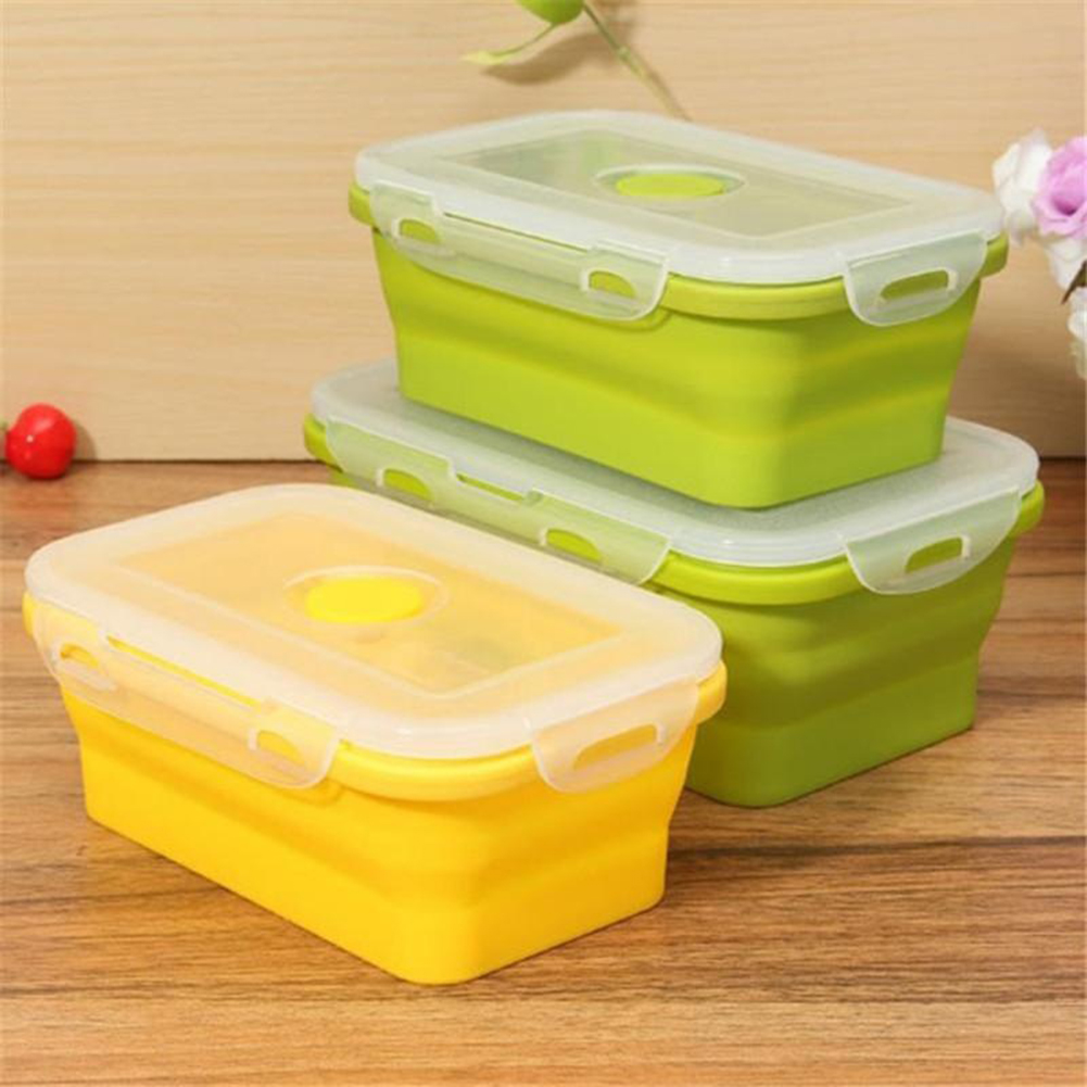 Moderna Foldable Cereal Fruit Food Storage Container Bento Picnic Lunch Box Kitchen Tool