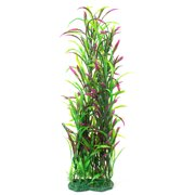 Unique BargainsAquarium Fish Tank Plastic Decoration Artificial Plant Ornament Green Fuchsia