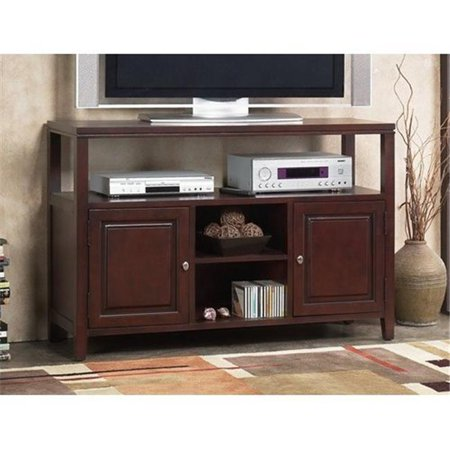 Alpine Furniture 113-03 Anderson Server & Flat Panel TV Console, Medium Cherry – 32 x 17 x 52 inch