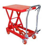 Heavy Duty Mobile 1000 LBS Hydraulic Table Lift Jack Cart