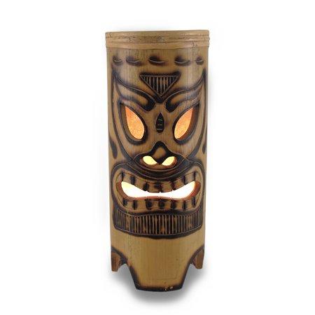 Tiki face tan bamboo table lamp walmart tiki face tan bamboo table lamp aloadofball Image collections