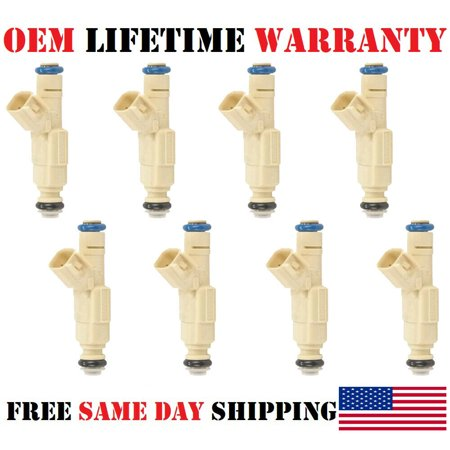 x8 OEM Bosch Fuel Injectors for 2003-2004 Ford Expedition 4.6L V8 (Refurbished)