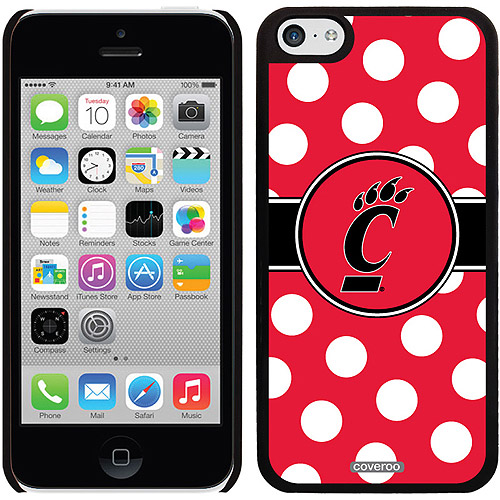 University of Cincinnati Polka Dots Design on iPhone 5c Thinshield Snap-On Case by Coveroo