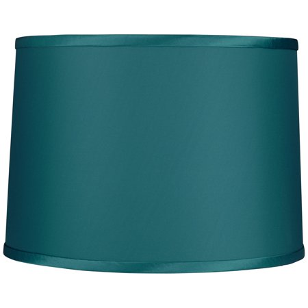 Brentwood Teal Reverse Side Fabric Lamp Shade 13x14x10 (Spider)