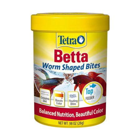 (2 Pack) Tetra BettaMin Worm Shaped Fish Food Bites, 0.98 (2 Ounce Terra Cotta)