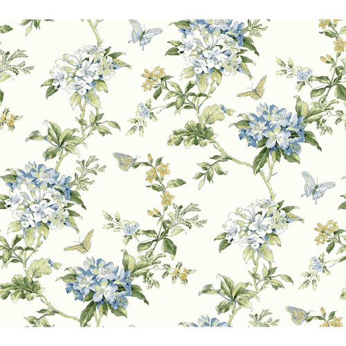 York Wallcoverings Waverly Cottage Fawn Hill 27' x 27'' Floral Wallpaper