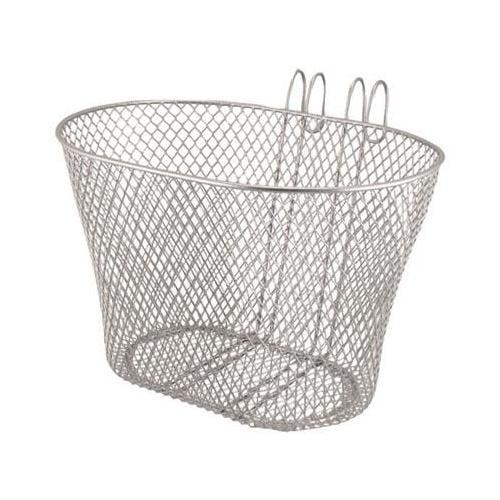 Eleven81 Lift Off Wire Mesh Oval Front Handlebar Bike Basket  (Silver)