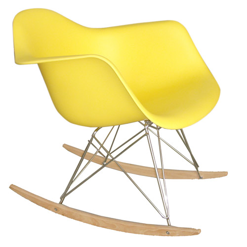 Fine Mod Rocker Arm Chair, Choose Your Color