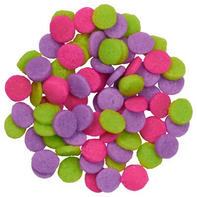 Mini Neon Confetti Quins Edible Cupcake & Cake Sprinkles - 2.6 oz - National Cake Supply (Neon Cakes)