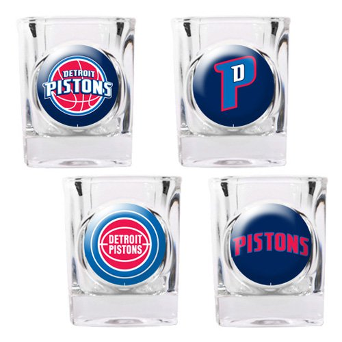 NBA - Detroit Pistons 4pc. Square Shot Glass Set
