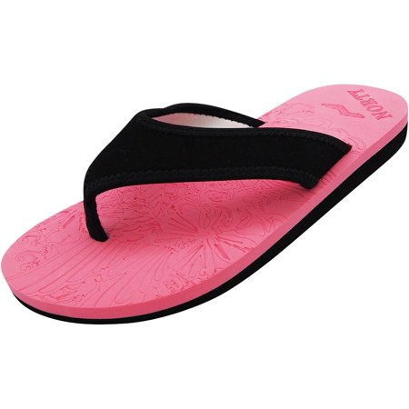 7a6f3d8e6ce88 NORTY Womens Thong Flip Flop Sandal for Beach, Pool and Everyday - Runs Two  Sizes Small, 40569 Pink/Black / 5B(M)US
