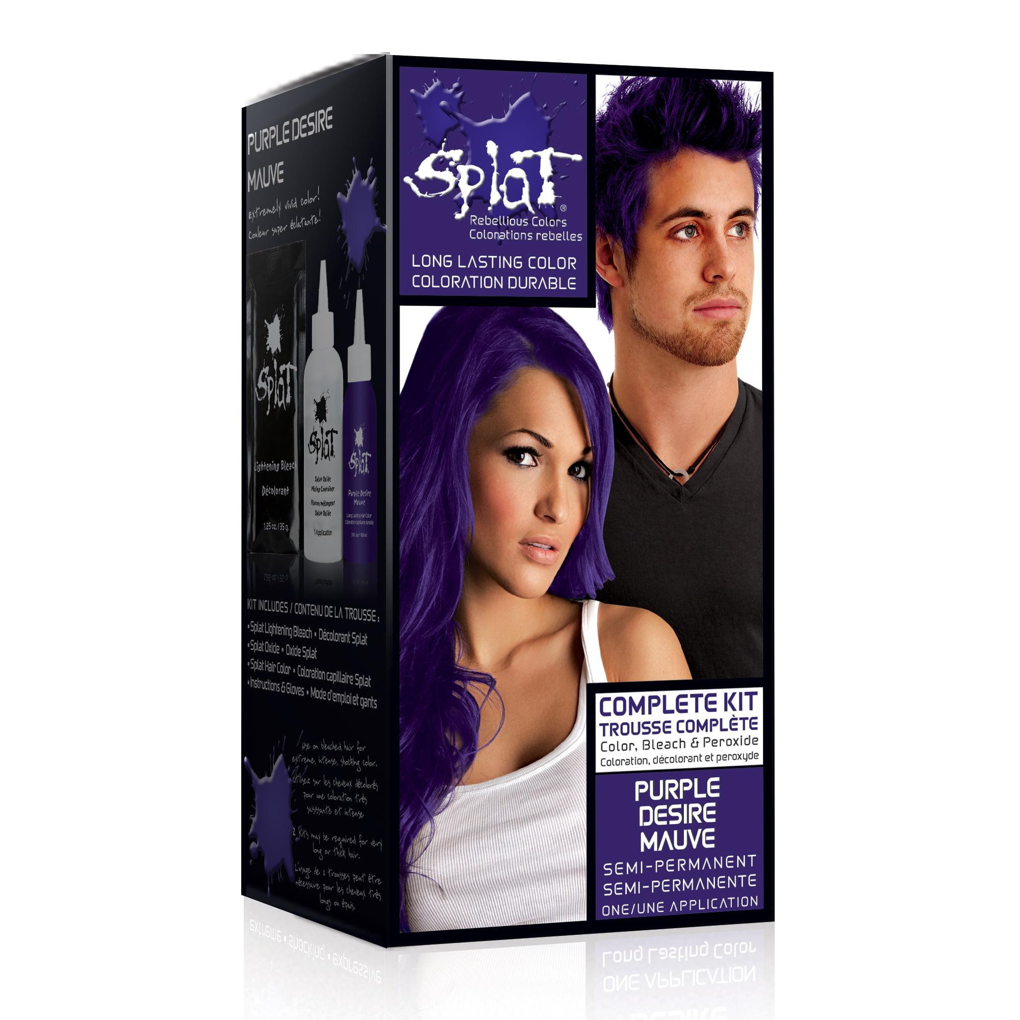 Splat Semi Perm Hair Color Purple Desire Walmart Com