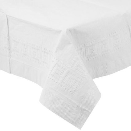 LAPACO, TABLE COVER WHITE 3 PLY 54X108 1-25 COUNT, Manufacturer Part Number: (125 Manufacturer Part)