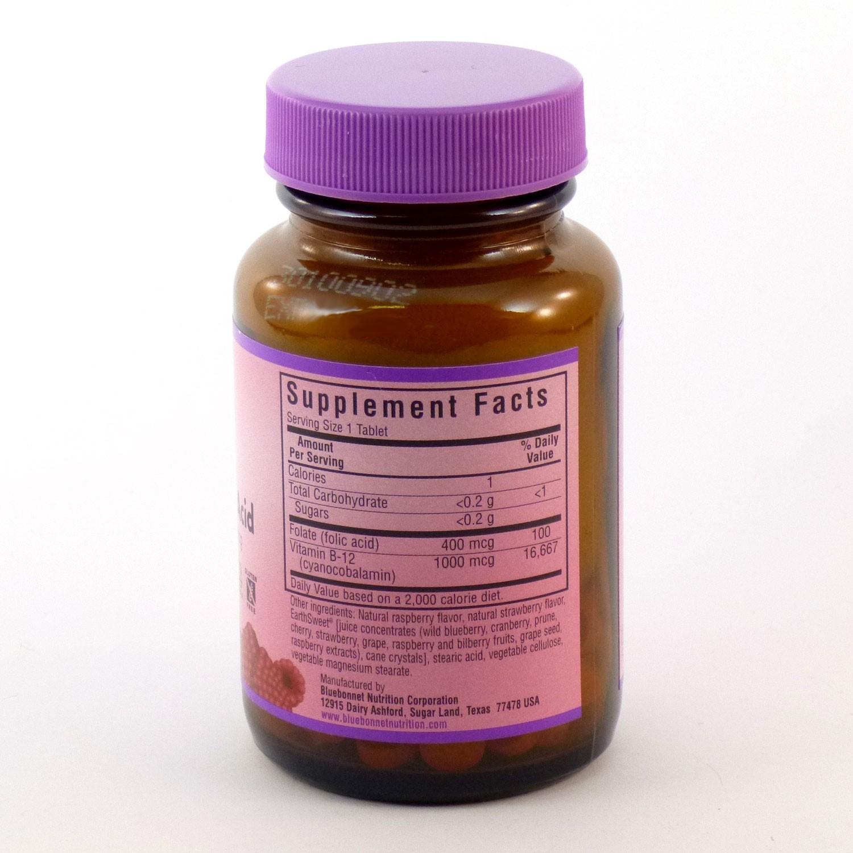 Bluebonnet Nutrition EarthSweet Vitamin B12 & Folic Acid Chewables, Natural Raspberry, 90 Ct - Walmart.com