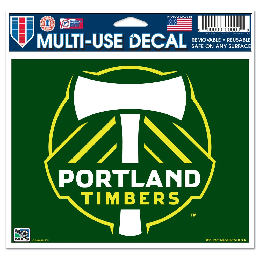 Portland Timbers Official MLS 4 inch x 6 inch  Car Window Cling Decal by Wincraft