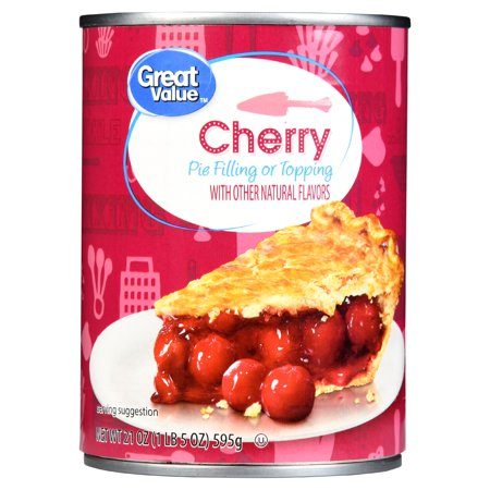 (5 Pack) Great Value Pie Filling or Topping, Cherry, 21