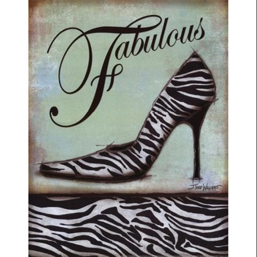 Zebra Shoe Poster Print by Todd Williams (11 x 14)