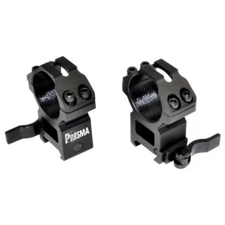 Quick Release Scope Rings - Presma PRWG040 30mm Quick Release High Profile Scope Rings for Picatinny/Weaver Rails