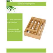Bamboo Drawer Organizer Kitchen Premium Cutlery And Utensil Tray