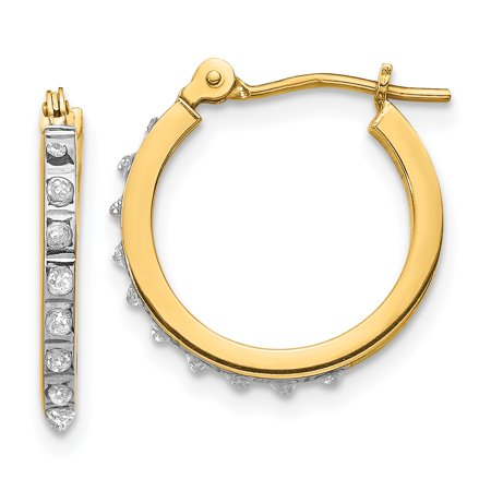 14k Small Hinged Leverback Hoop Earrings