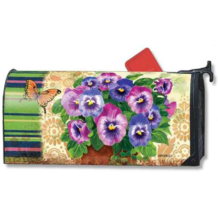 Magnet Works Pretty Pansies Original Magnetic Mailbox Wrap Cover