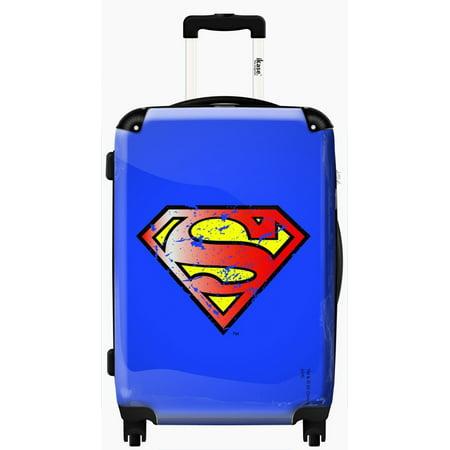 Suitcase Superman blue vintage emblem - Carry-on