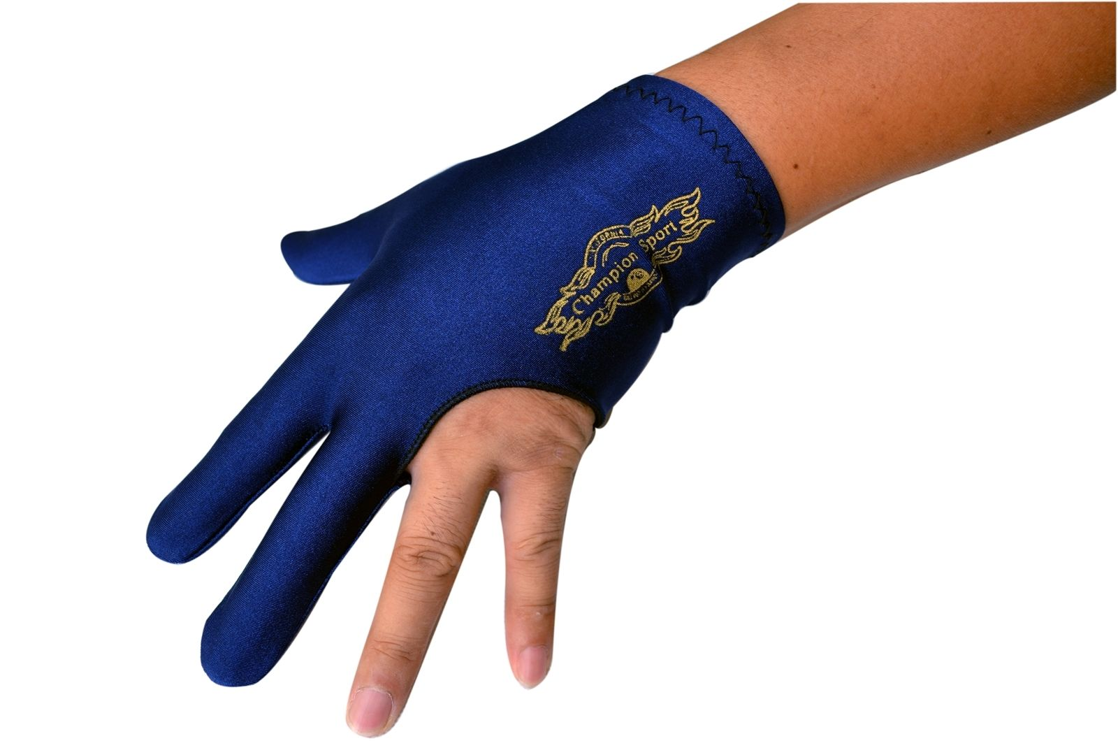 Champion Sport Dark Blue Billiards Left Hand Glove For Pool Cue by