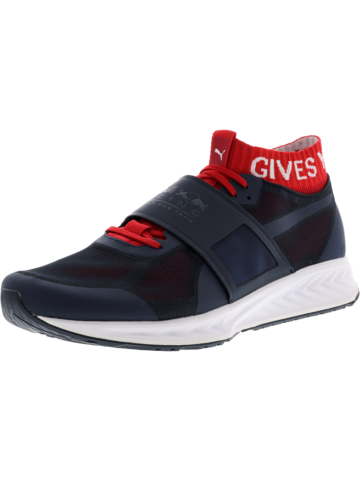 Puma Men's Red Bull Racing Mechs Ignite V3 Total Eclipse / Chinese White Ankle-High Training Shoes - 11M