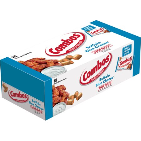 Buffalo Combo - COMBOS Buffalo Blue Cheese Pretzel Baked Snacks, 1.8 Ounce Bags, 18 Count Box