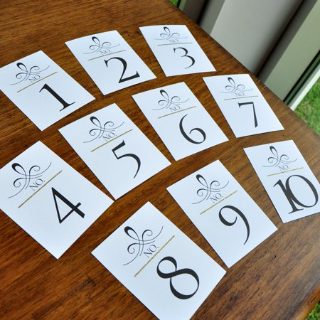Table Number Cards Wedding Numbers Gold Gatsby Table
