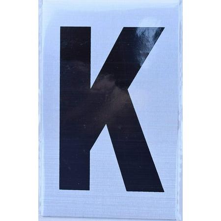 Apartment Number Sign - Letter k Brush Aluminium, Size 2.5X4) - Porte D'argent line](Porte Halloween)