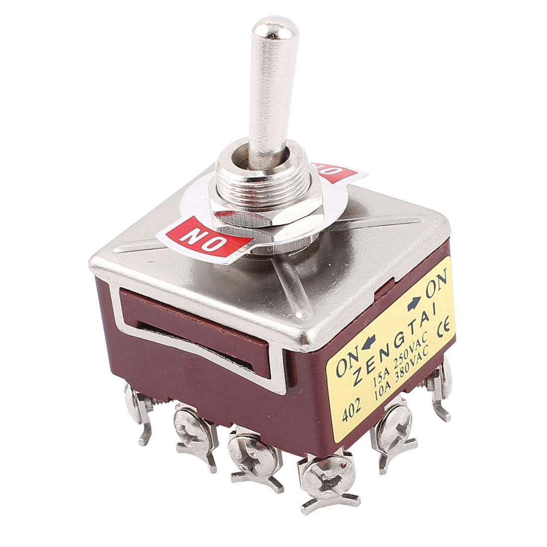 AC 15A/250V 10A/380V 2 Way On/On 4 Pole Double Throw 4PDT Toggle Switch