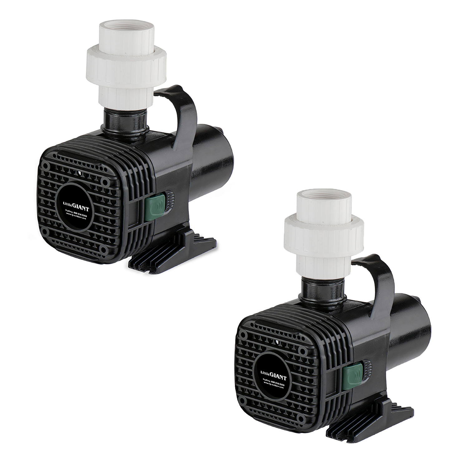 Little Giant F30-4000 4000 GPH 1.8 Amp Wet Rotor Pond Pump w/20 Ft Cord (2 Pack)