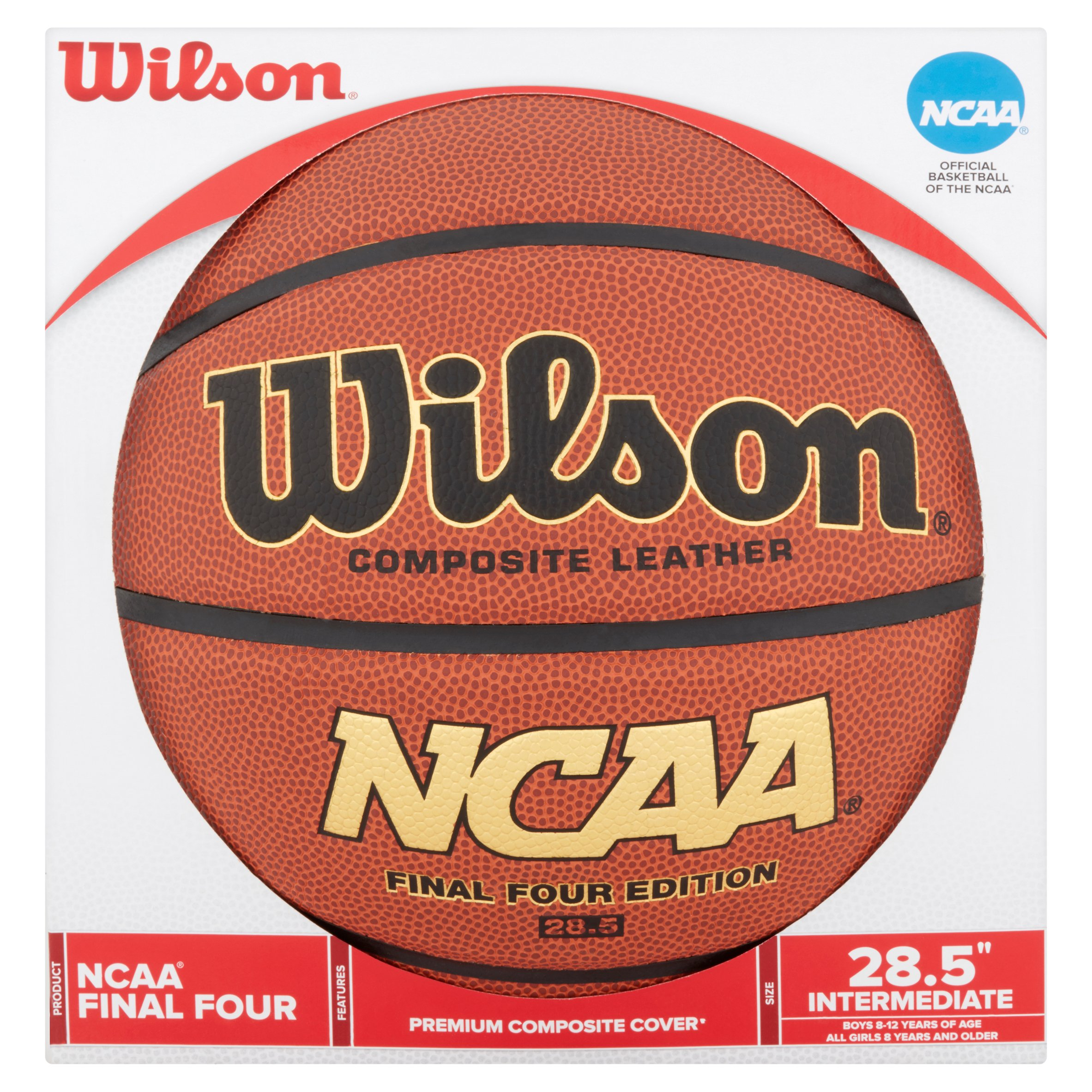 "Wilson Final Four Edition Premium Composite Cover 28.5"" Intermediate Basketball"