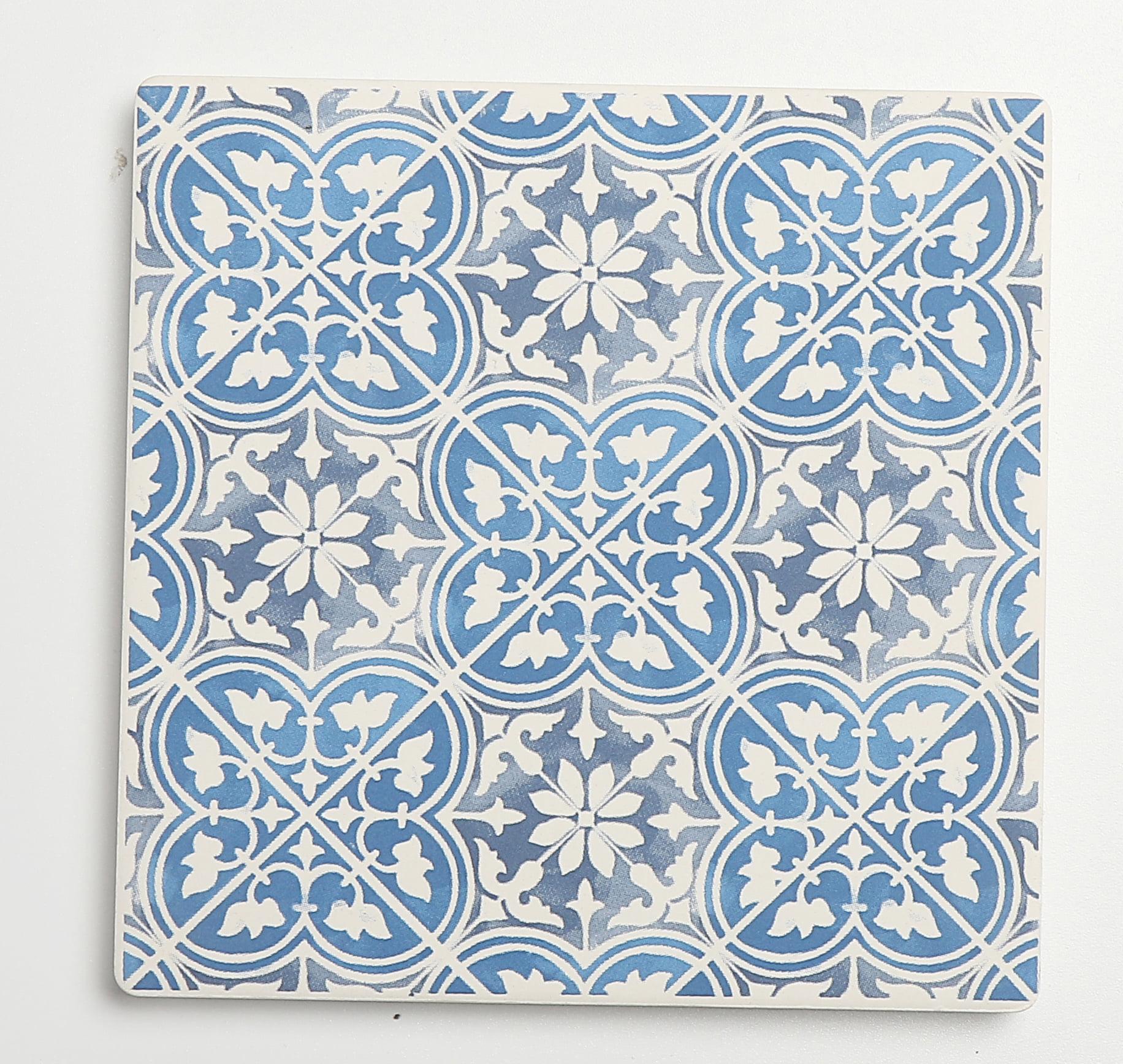 Mainstays Ms Blue Tile Square Coaster