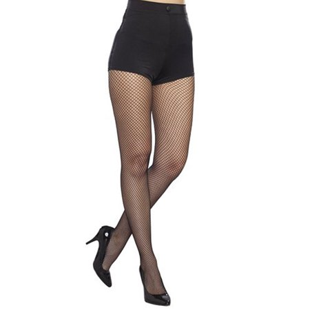 Dreamgirl Plus Size Fishnet Pantyhose w/ Solid Foot Women's Costume Accessory
