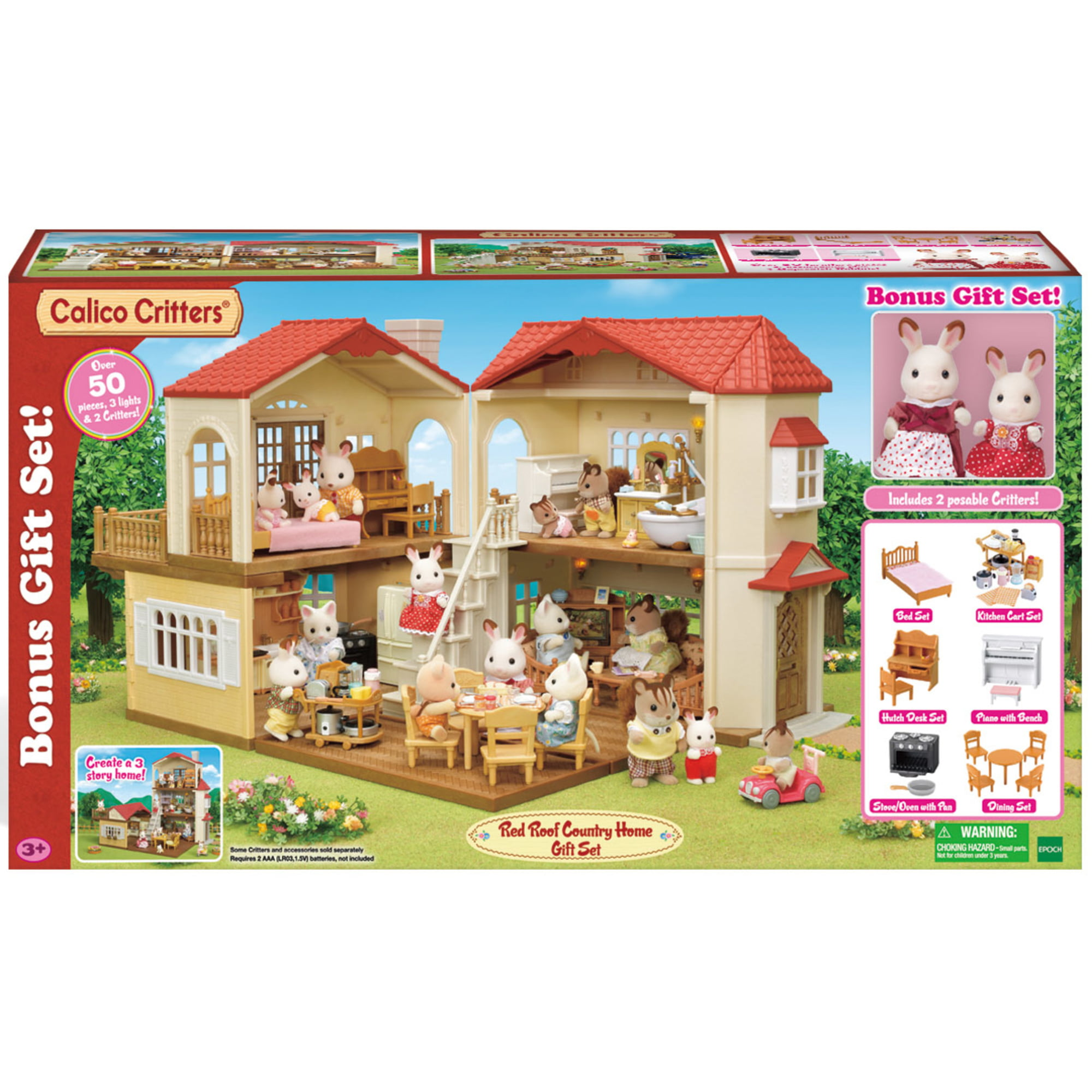 Calico Critters Luxury Townhome Gift Set Kids Big Toys