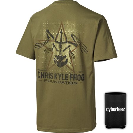 Chris Kyle Frog Foundation Military Panel Green American Sniper T Shirt   Coolie  S