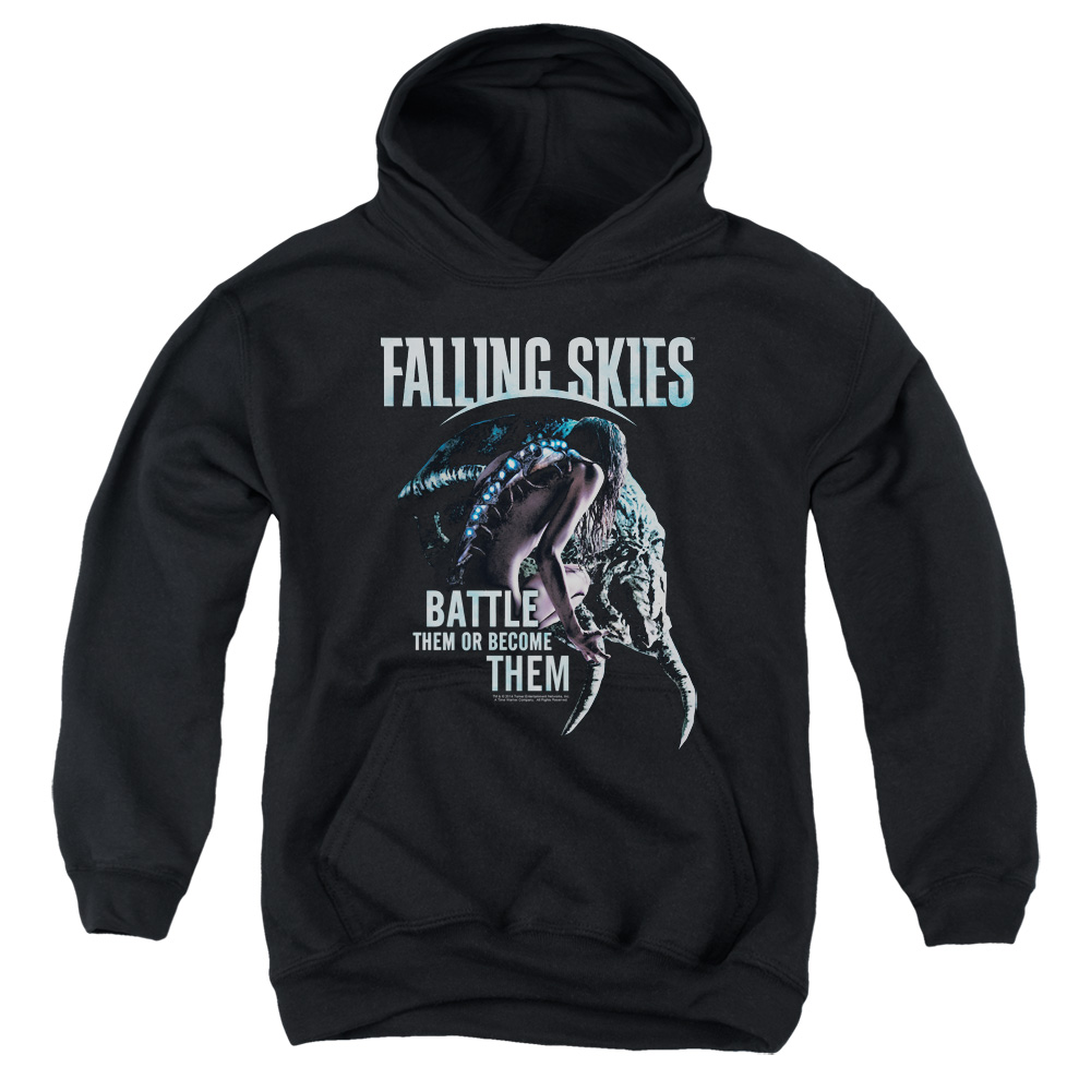 Falling Skies Battle Or Become Big Boys Pullover Hoodie