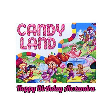 Candy Land Candyland Edible Image Photo Cake Topper Sheet Personalized Custom Customized Birthday Party - 1/4 Sheet - 78752