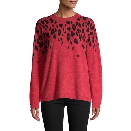 Leopard-Print Cashmere Sweater ()