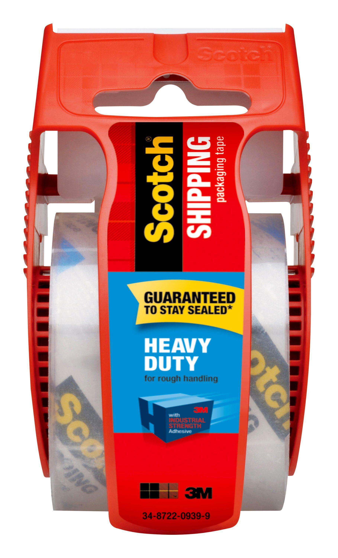 2 Lot of Rolls Gorilla Heavy Duty Packaging Tape Dispenser 1.88 x 25 yd Clear