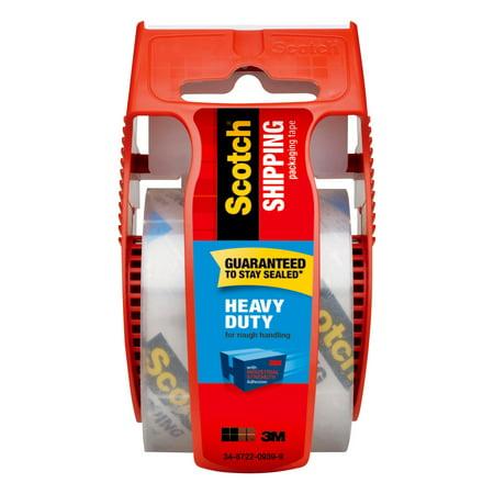 Scotch Heavy Duty Packaging Tape Dispenser, Clear, 1.88 in x 15 Yds