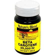 Blonding Gels - Nature's Blend Beta Carotene Soft Gels, 25000IU, 100ct 079854100112A491