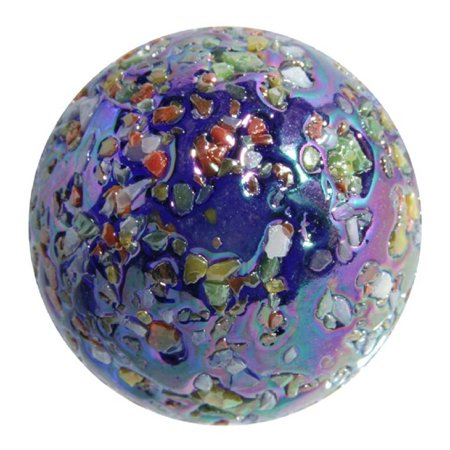 Giant Glass GlitterBomb Marble 35 mm (1.3 Inch) Diameter with Stand, Giant GlitterBomb Marble - 35 mm Collectible Art Glass By OnlineScienceMall