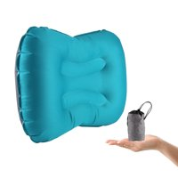 Codream Inflatable Pillows for Camping Ultralight & Comfortable Compact Travel Pillow for Backpacking, Hiking , Airplane, Train, Car, Office with Bonus Pocket (Blue)