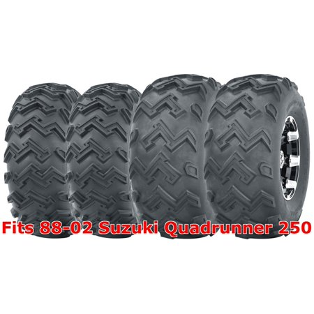 - Full Set ATV tires 22x8-10 Front & 24x11-10 Rear 88-02 Suzuki Quadrunner 250