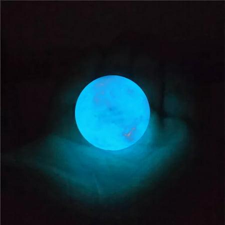 35MM Blue Luminous Quartz Crystal Sphere Ball Glow In The Dark Stone